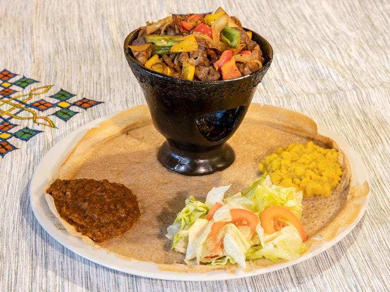 Viande de boeuf marinée aux épices éthiopiennes