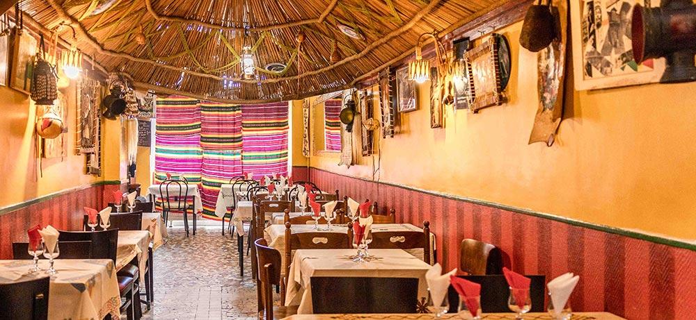 Couleurs chaudes et dépaysement restaurant Ethiopia