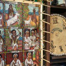 Iconographie traditionnelle décoration restaurant Ethiopia