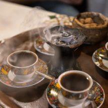 Cérémonie traditionnelle du café restaurant Ethiopia